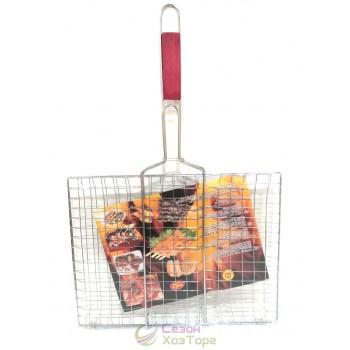 Решетка для гриля, барбекю прямоугольная 30*40см №2029
