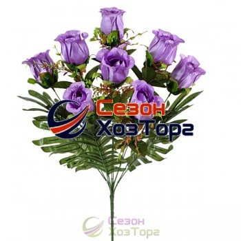 Букет искусственных Роз в бутоне 63см (№122)