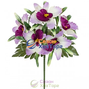 Букет орхидеи бордюр 22 см (№373)