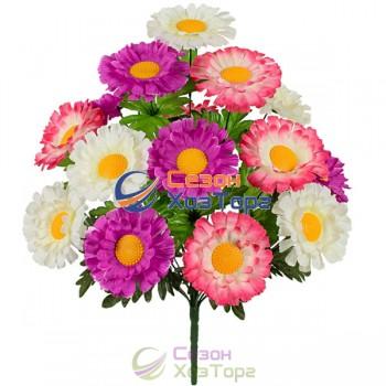 Букет Хризантемы трехцветные 49см (№5012)