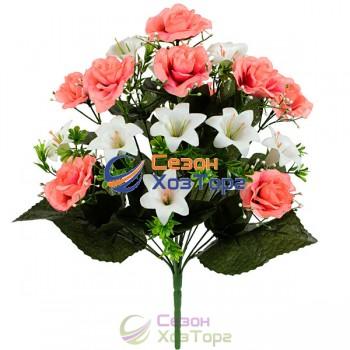 Букет Розы+Лилии 46см (№581)
