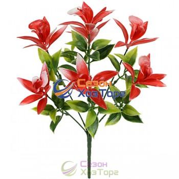 Букет искусственных орхидей из пластика 31см (№6033)