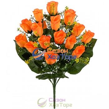 Букет искусственных Роз в бутоне 53 см (№637)