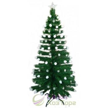 Ель зеленая 1,2 м с лампами-шишками, светодиодная оптоволоконная (6419-3-120)