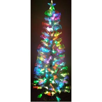 Ель Блестяще-белая 1,8 м оптоволоконная светодиодная (6419-8-180)
