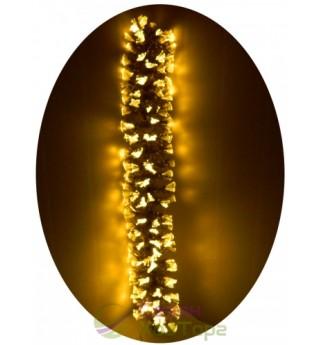 Светодиодная оптоволоконная золотистая хвоя с LED-кисточками 2,0 м (6419-D200)