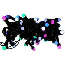 Гирлянда электрическая LED 50, d-1,6 см, 4 цвета, 8 функций (SH135)