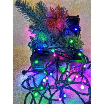 Гирлянда электрическая LED 140, 4 цвета, 8 функций (SH132)