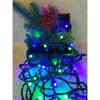 Гирлянда электрическая LED 200, 4 цвета, 8 функций (SH133)