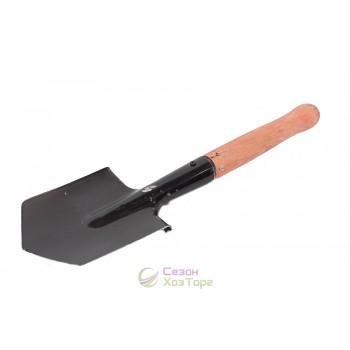 Лопата саперная с деревянной ручкой