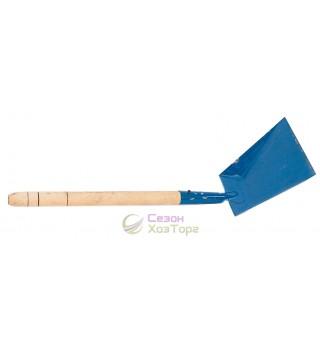 Совок для мусора металлический с деревянной ручкой