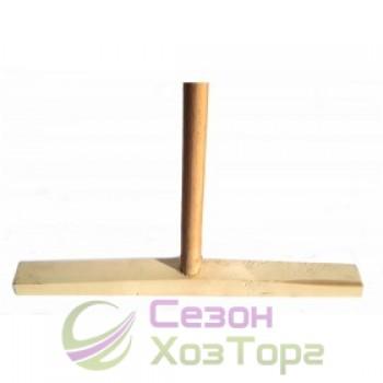 Швабра деревянная с ручкой, 35см (прямая)