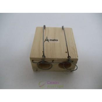 Мышеловка-норка деревянная (два отверстия)
