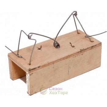 Мышеловка-домик деревянная двухсторонняя 12*5см