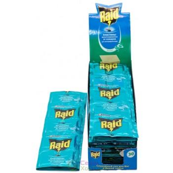 Пластины от комаров RAID с ароматом Эвкалипт (упаковка 10 шт)