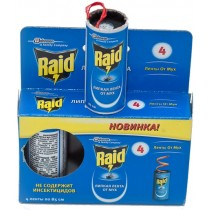 Липкая лента от мух RAID (4 ленты в упаковке)
