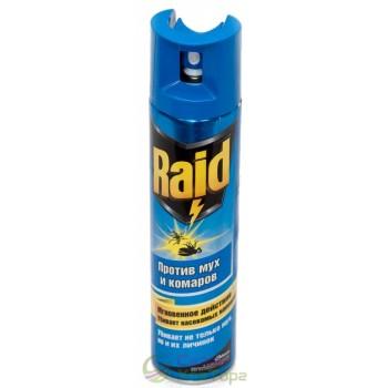 Аэрозоль RAID против мух и комаров 300 мл