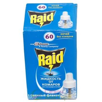 Жидкость от комаров RAID на 60 ночей