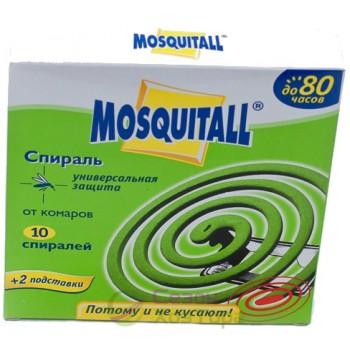 Спирали от комаров MOSQUITALL (упаковка 10 спиралей+2 подставки)