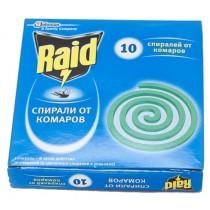 Спирали от комаров RAID (упаковка 10 спиралей)