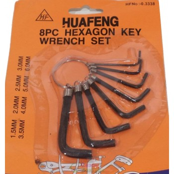 Набор шестигранных ключей, 8 размеров