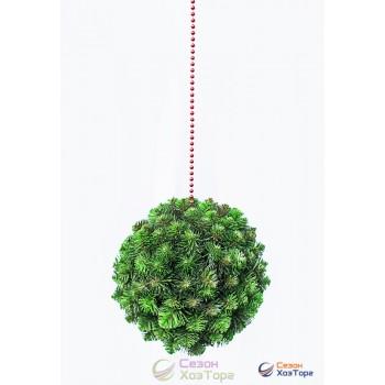 Шар европейский светло-зеленый из декоративной хвои Ø75см