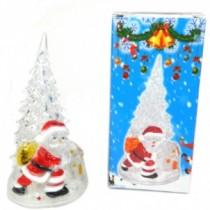 "Новогодняя фигурка ""Елочка+Снеговик"" с подсветкой (SH154)"