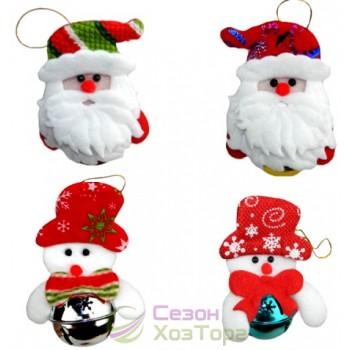 """Новогодняя фигурка """"Снеговик с колокольчиком"""" (SH156)"""