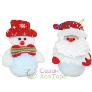 """Новогодняя фигурка """"Дед Мороз+шарик"""" с подсветкой (SH157)"""