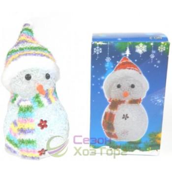 """Новогодняя фигурка """"Снеговик"""" с подсветкой 12см (SH159)"""