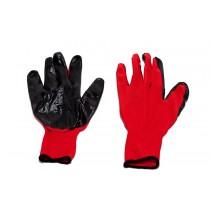 Перчатки стрейчевые с нитрилом (красно-черные)