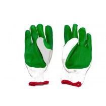 Перчатки защитные х/б с латексным рельефным покрытием