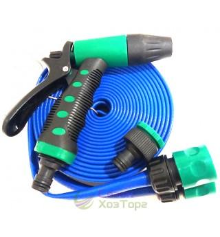 Шланг для полива 10м/3х-слойный/распылитель/2 коннектора/упаковка