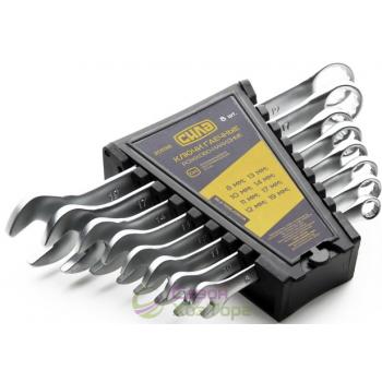 Набор ключей рожково-накидных Стандарт 6шт CrV (№201037)