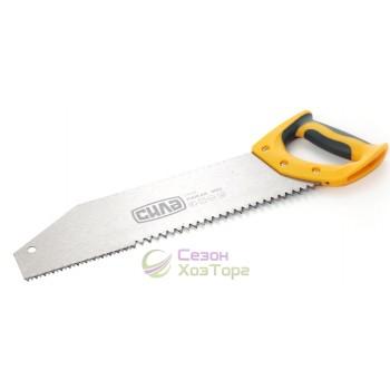 Ножовка по дереву с комбинированным зубом Хижак 400мм 2-х комп.р. (№320512)