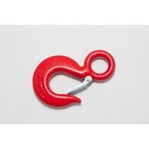 Крюк чалочный красный с фиксатором 1,5т