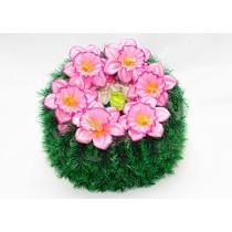 """Ритуальный венок """"Солнце"""", цветок-нарцисс d - 38 см (пластиковый каркас)"""