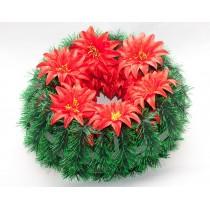"""Ритуальный венок """"Солнце"""", цветок-крокус остроконечный d - 38 см (пластиковый каркас)"""