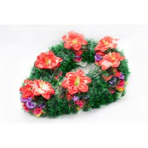 """Ритуальный венок """"Капля"""", цветок-нарцисс (пластиковый каркас)"""