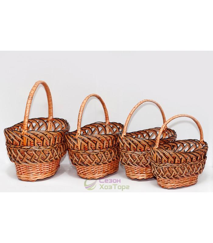 e15555afffbcc Плетеные корзины из лозы (набор из 4 шт) Купить Оптом по Самой ...