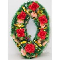"""Ритуальный венок """"Капля большая"""" с розами"""