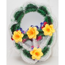 Корзина плетеная ажурная, цветок Нарцисс атласный