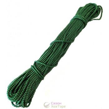 Шнур полиамидный с наполнителем Л-25 зеленый (3мм, 25м)